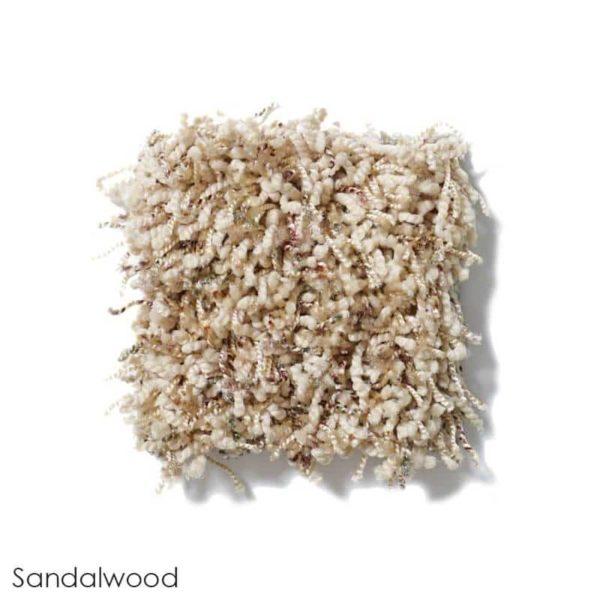 Uptown Girl Berber Tweed Indoor Shag Carpet Area Rug Collection Sandalwood