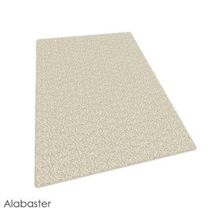 Milliken Maison Scroll Pattern Indoor Area Rug Collection Alabaster