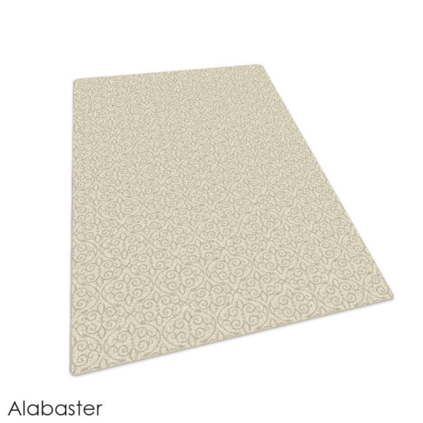 Milliken Maison Scroll Pattern Indoor Area Rug Collection Alabaster