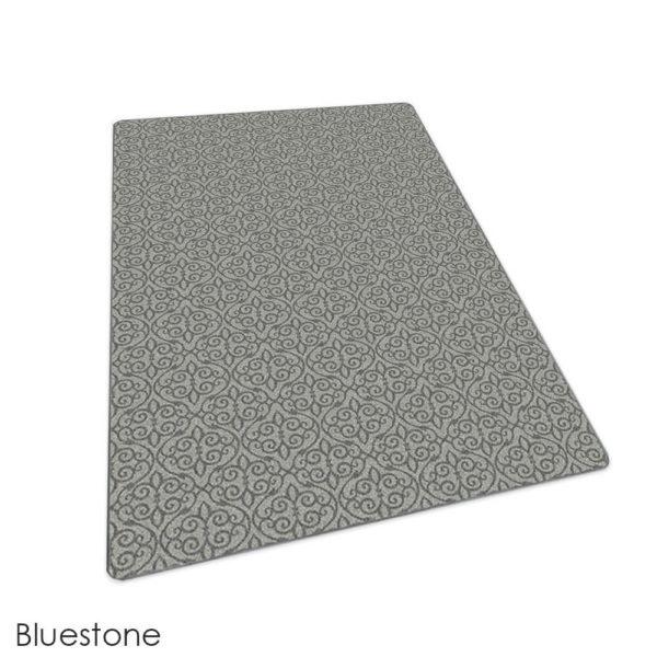 Milliken Maison Scroll Pattern Indoor Area Rug Collection Bluestone