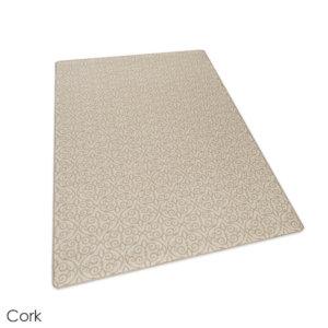 Milliken Maison Scroll Pattern Indoor Area Rug Collection Cork