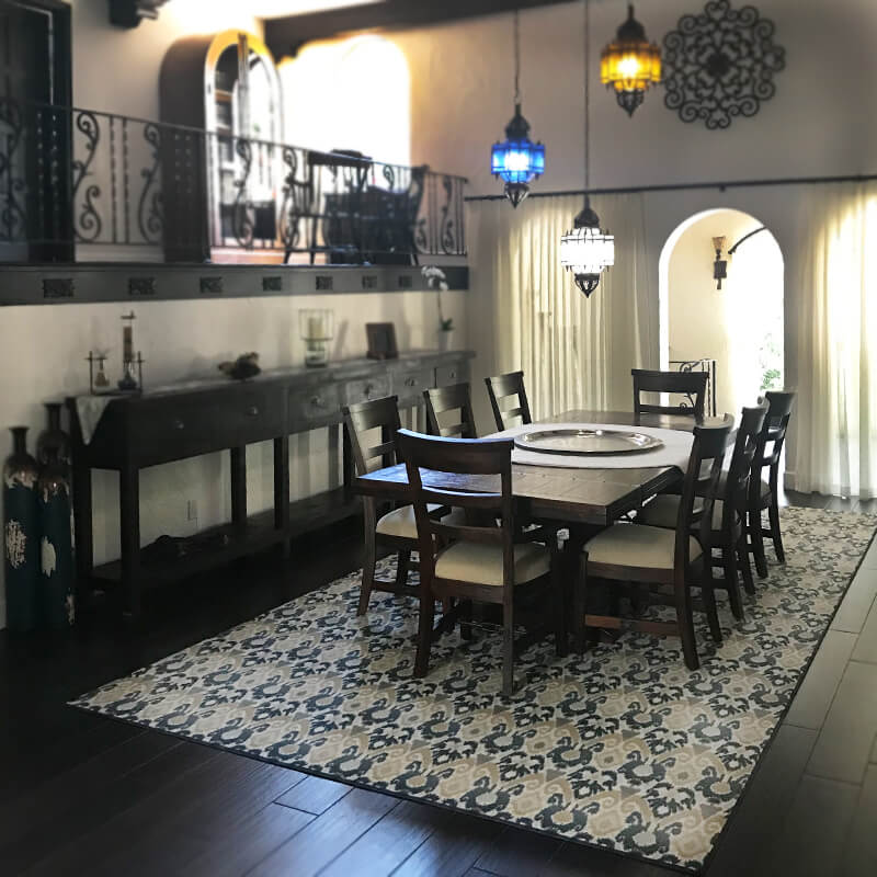 Relic Pattern Indoor Area Rug Collection Dinning Room