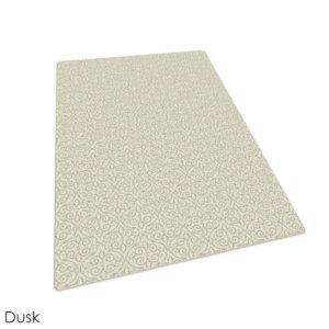 Milliken Maison Scroll Pattern Indoor Area Rug Collection Dusk