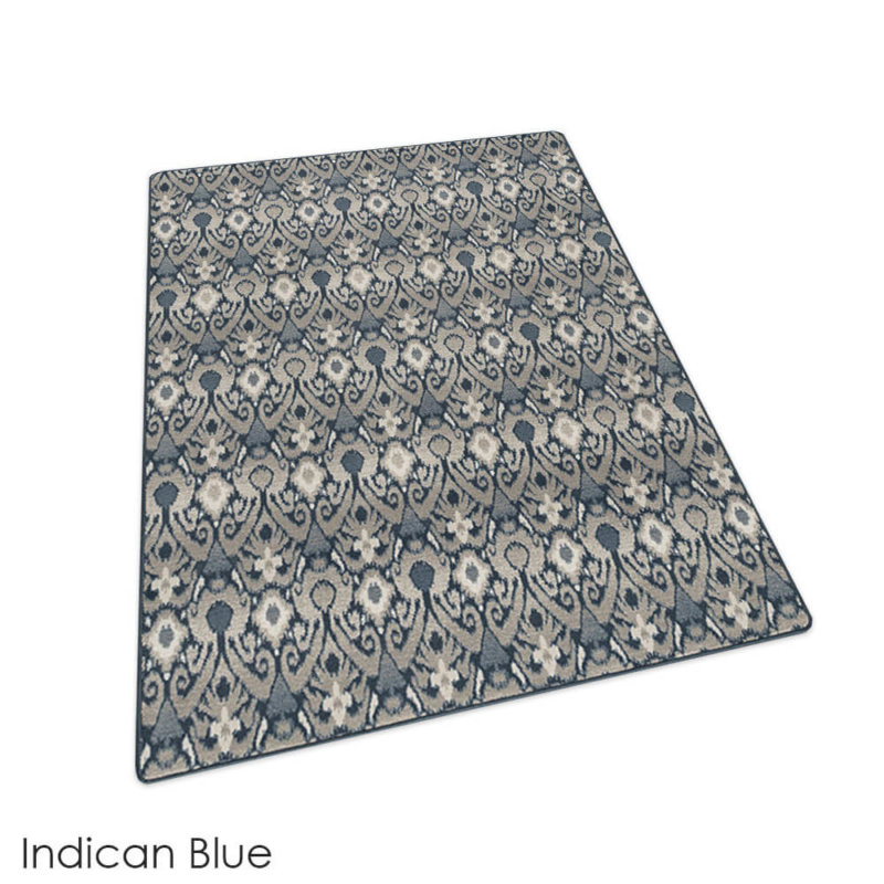 Milliken Relic Pattern Indoor Area Rug Collection Indican Blue