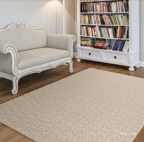 Milliken Maison Scroll Pattern Indoor Area Rug Collection Room