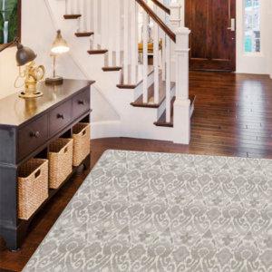 Milliken Relic Pattern Indoor Area Rug Collection Room