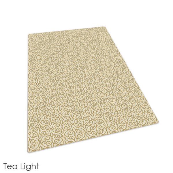 Milliken Maison Scroll Pattern Indoor Area Rug Collection Tea Light