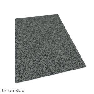 Milliken Maison Scroll Pattern Indoor Area Rug Collection Union Blue