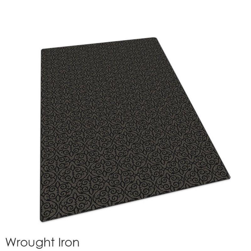 Milliken Maison Scroll Pattern Indoor Area Rug Collection Wrought Iron