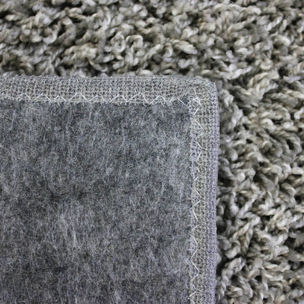 Lazy Day Grey Twisted Frieze Area Rug Carpet Backing
