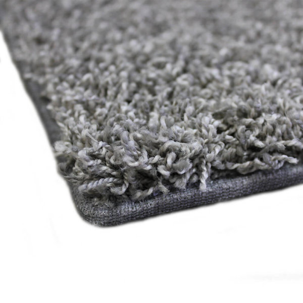Lazy Day Grey Twisted Frieze Area Rug Carpet Corner