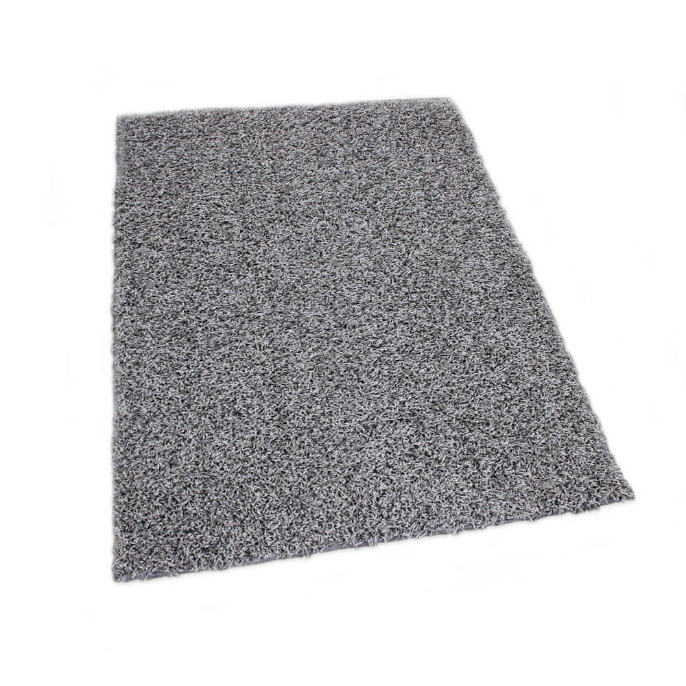 Lazy Day Grey Twisted Frieze Area Rug Carpet Rug