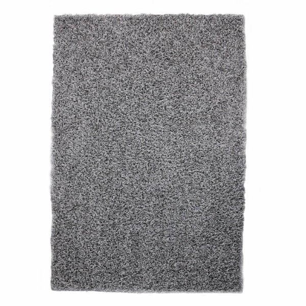 Lazy Day Grey Twisted Frieze Area Rug Carpet Top