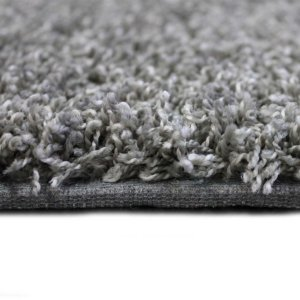 Lazy Day Grey Twisted Frieze Area Rug Carpet Side