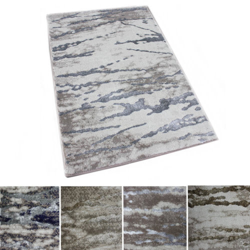 Rippled Water Area Rug Abstract Tides Collection