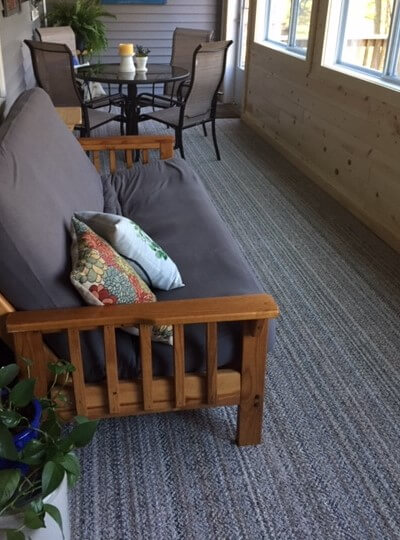 Boho Striped Beige Recycled Area Rug & Carpet Customer Photo