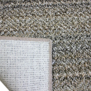 Boho Striped Beige Recycled Area Rug & Carpet Backing
