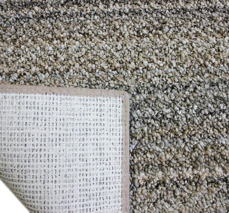 Boho Striped Beige Recycled Area Rug & Carpet Backing