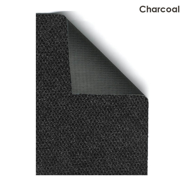 Fullton Street Charcoal Indoor-Outdoor Olefin Carpet Area Rug Back