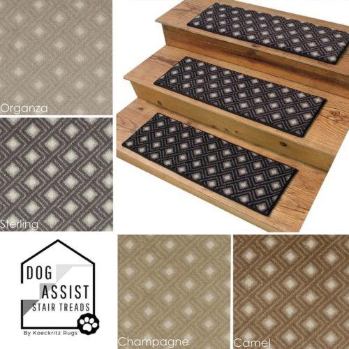 Diamante DOG ASSIST Carpet Stair Treads