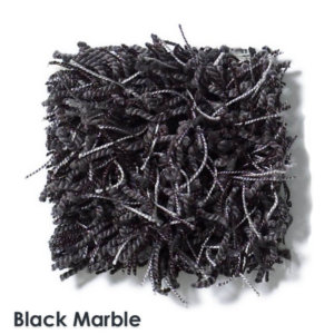 Bling Black Marble Shaggy Stair Treads swatch