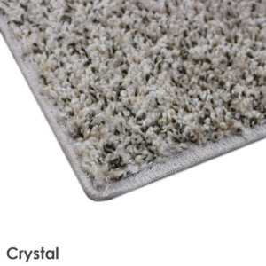 Gemstone Crystal Custom Cut Indoor Area Rug Corner