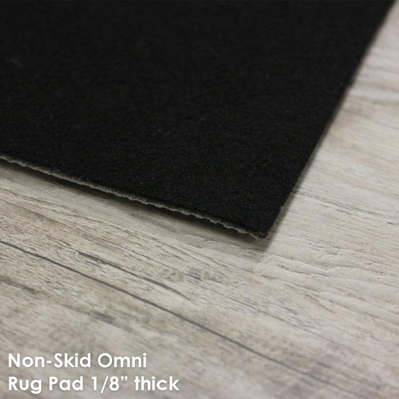 """Non-Slip Omni Area Rug Pad   1/8"""" Thick Non-Slip   Customize Your Size & Shape"""