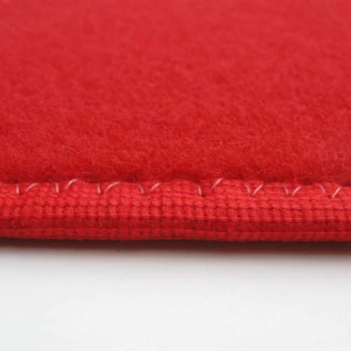 Bright Red Indoor-Outdoor Durable & Soft Carpet Area Rug