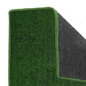Green Black Economical Grass Turf | Indoor-Outdoor Area Rug Carpet - Durable Backing