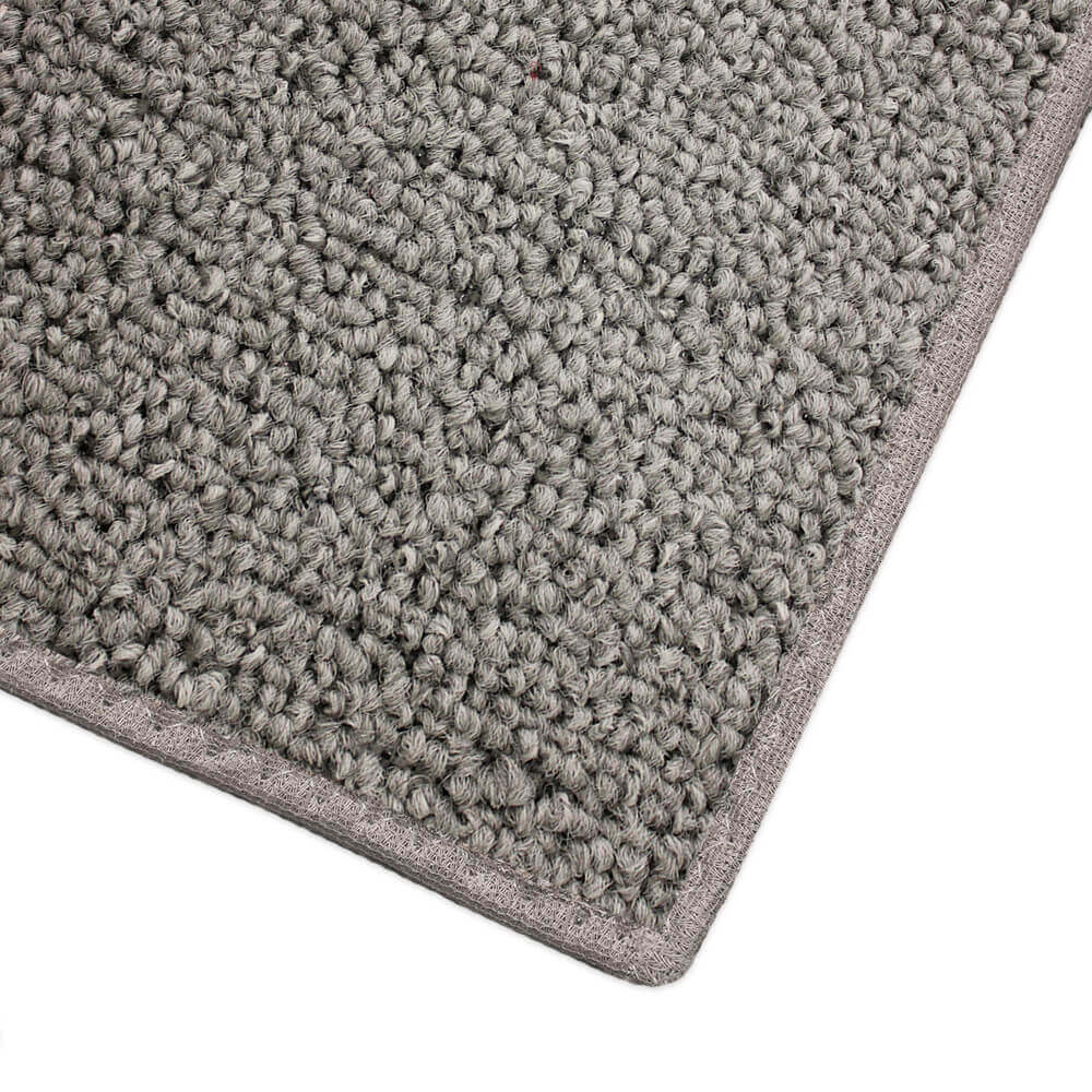 Husky Gray Indoor-Outdoor Area Rug Creative Carpet Solutions Corner