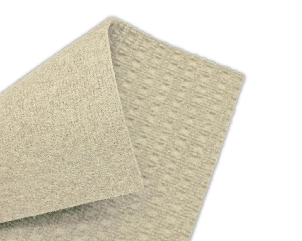 Interlace Ivory Indoor - Outdoor Unbound Area Rugs Backing