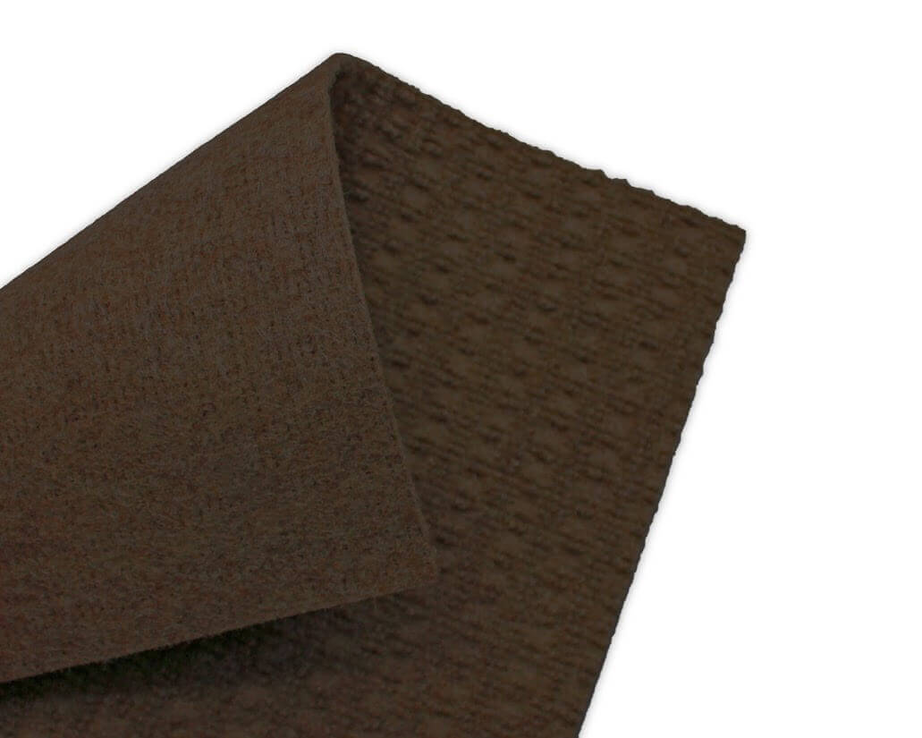 Interlace Mocha Brown Indoor - Outdoor Unbound Area Rugs Backing