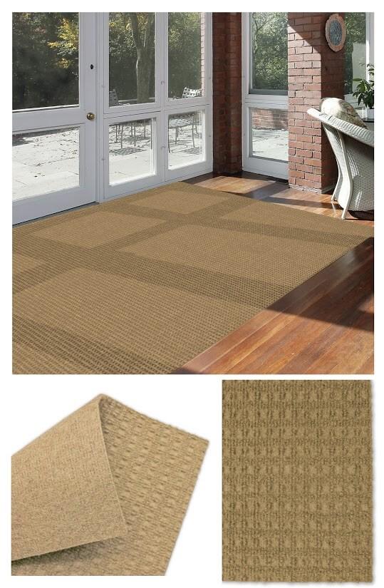 Interlace Chestnut Indoor - Outdoor Unbound Area Rugs