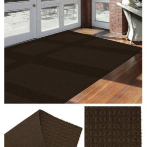 Interlace Mocha Brown Indoor - Outdoor Unbound Area Rugs Room