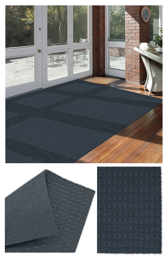 Interlace Ocean Blue Indoor - Outdoor Unbound Area Rugs Room