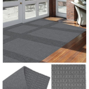 Interlace Sky Grey Indoor - Outdoor Unbound Area Rugs Room