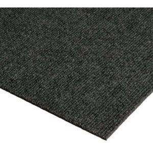 Roanoke Rib Indoor- Outdoor Unbound Area Rugs Black ice