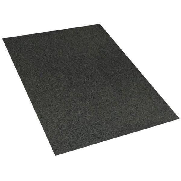 Roanoke Rib Indoor- Outdoor Unbound Area Rugs Black ice rug
