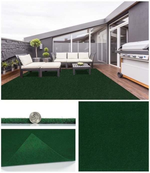 grizzly Grass Fern Outdoor Rug Area