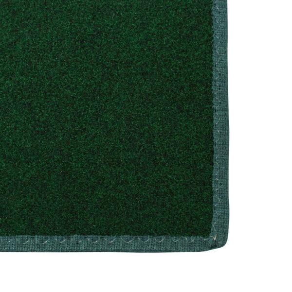 Valdosta Indoor-Outdoor Durable & Soft Carpet Area Rug | Green Binding