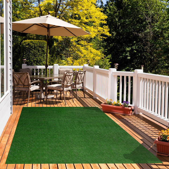 Pasture Economical Grass Turf | Indoor-Outdoor Area Rug Carpet - great accessories for Decks