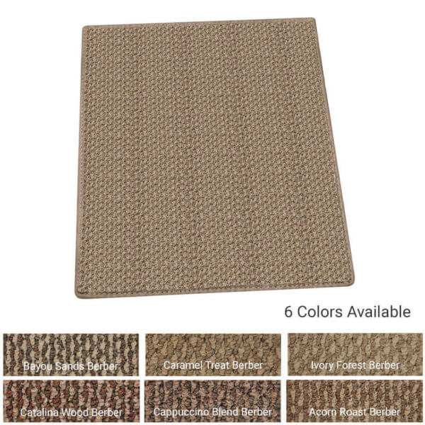 Berber Indoor-Outdoor Area Rugs and Runners - 6 Colors Available