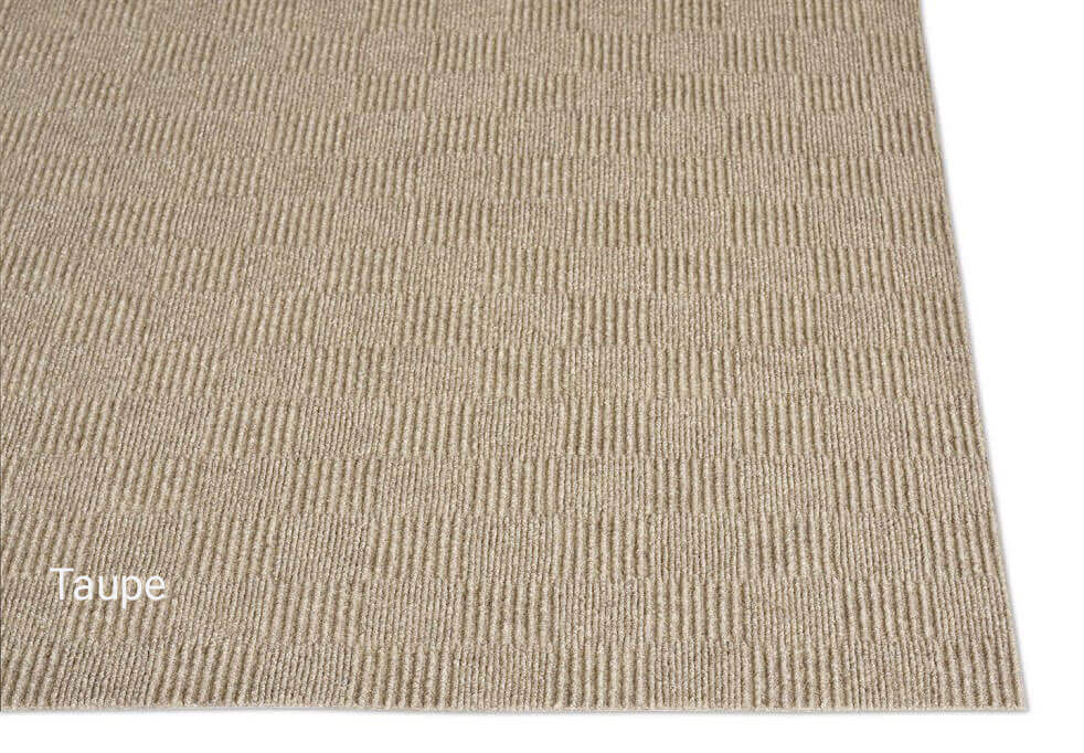 Patchwork Indoor - Outdoor Unbound Area Rugs - Taupe Pattern