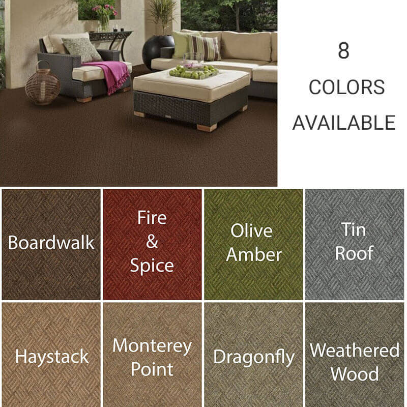 Dreamweaver Indoor-Outdoor Area Rug Carpet - 8 Colors Available