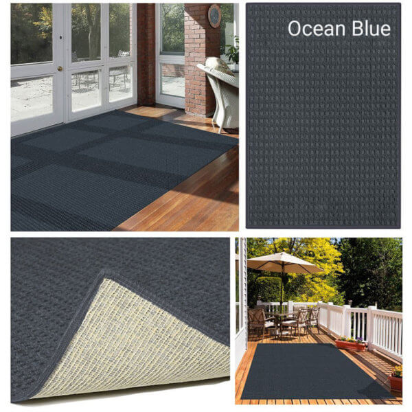Foundation Indoor - Outdoor Area Rugs - Ocean Blue Room