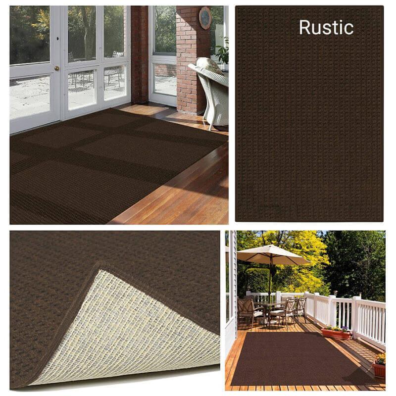 Foundation Indoor - Outdoor Area Rugs - Rustic Room