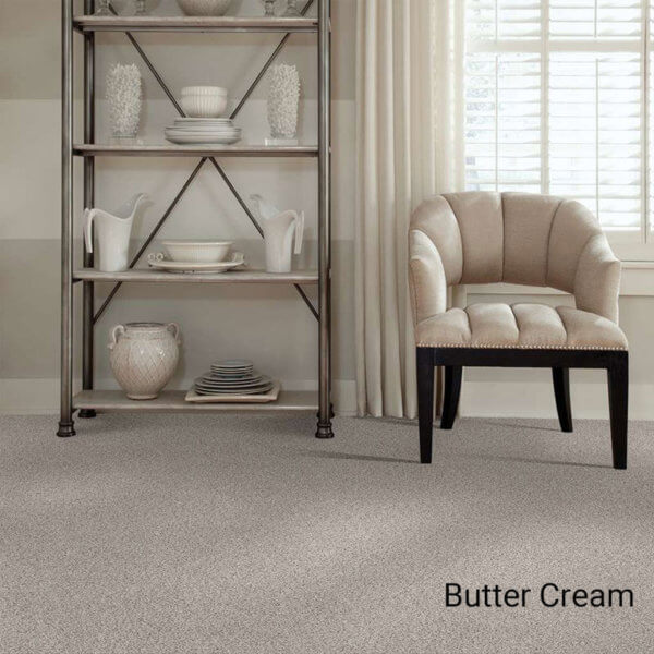 Quiet Sanctuary Shag Area Rug Collection - Butter Cream Room