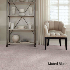 Quiet Sanctuary Shag Area Rug Collection - Muted Blush Room