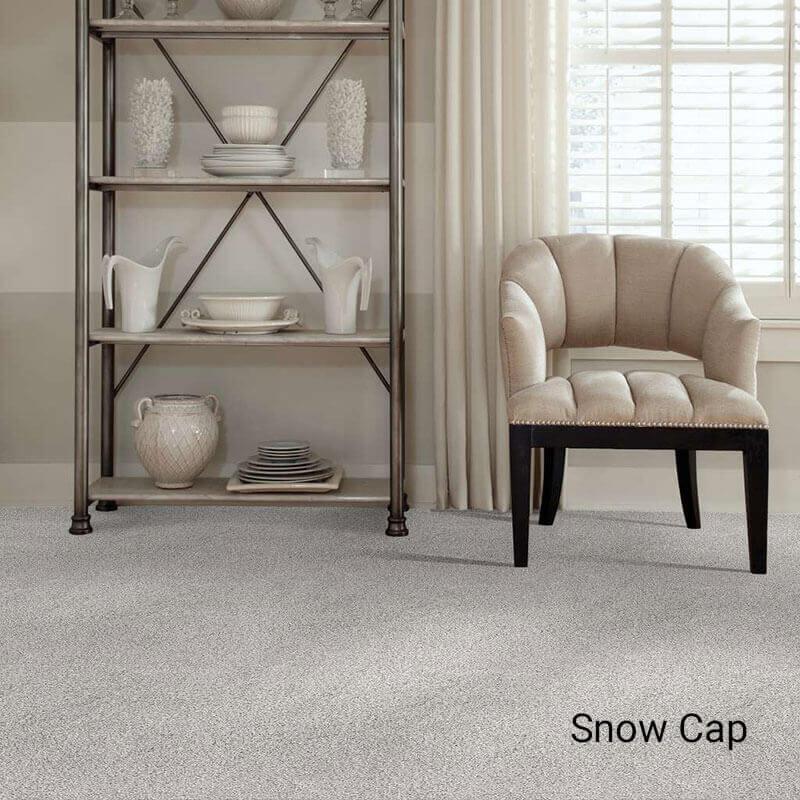 Quiet Sanctuary Shag Area Rug Collection - Snow Cap Room