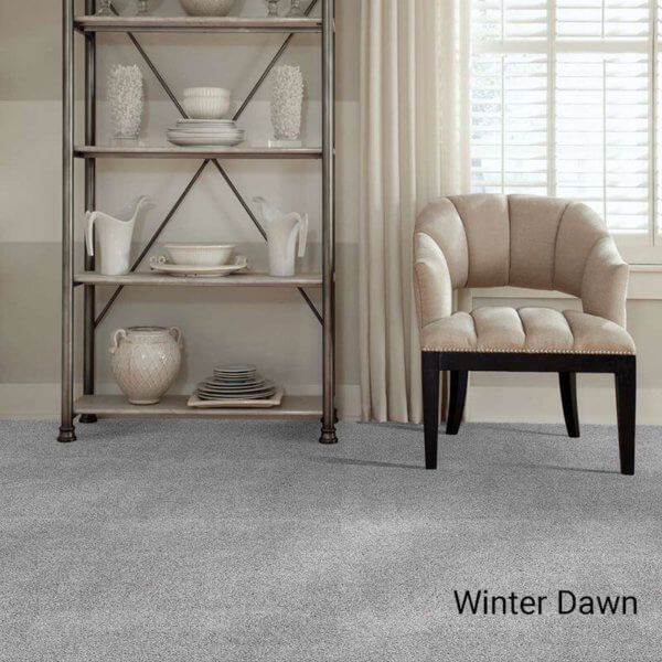 Quiet Sanctuary Shag Area Rug Collection - Winter Dawn Room